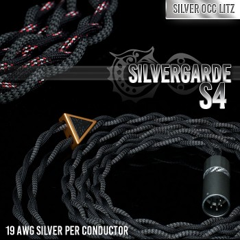 (new) Silvergarde S4 - 4-wire (4 x 19awg) - Pure silver occ litz - cotton multicore 11-core - infused polymer center core - multi-layer (cotton + teflon) - pure textile headphone cable