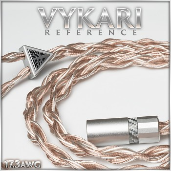 (new) Vykari Reference - 12-wire - 17.3awg (with 18.9awg highest purity Silver occ litz per polarity + 22.0awg Cu per polarity) - TPU - Multi-core - enhanced cotton cores - premium headphone cable