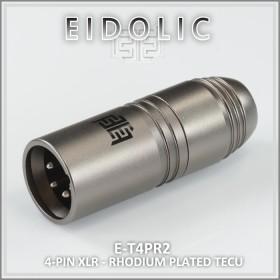 * Eidolic 4-pin XLR - Rhodium plated- TeCu - Tellurium Copper pins - gunmetal anodized aluminum - DIY balanced connector