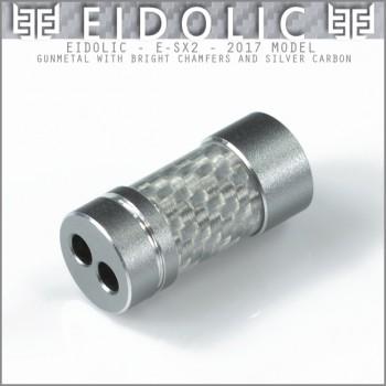 (new 2017 model)  Eidolic - E-SX2 - Gunmetal with silver carbon fiber - bright chamfer - barrel splitter (in stock)