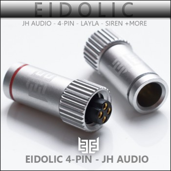 *new* Eidolic 4-pin JH Series ciem / iem connectors for Siren, Layla + more (sold per pair)