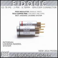 **NEW**  Eidolic - E2-78-PG - Premier 2-pin (.78mm) CIEM / IEM connector (pair) - Tellurium Copper Pins - PEEK insulator - Internal Locking System for clean streamlined barrel