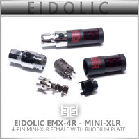 *  Eidolic 4-pin mini-xlr female (rhodium plated, red carbon barrel) EMX-4R for Audeze, ZMF, Kennerton & more (single unit)