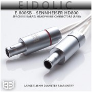 Eidolic - E-800SB - Sennheiser HD800 - HD800S - Dharma - Spacious Barrel Headphone Connectors (5.25mm rear entry, sold per pair)