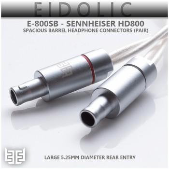 Eidolic - E-800SB - Sennheiser HD800 - HD800S - Dharma - Spacious Barrel Headphone Connectors (5.25mm rear entry, sold per pair)