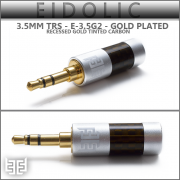 **NEW**  Eidolic 3.5mm TRS gold plated - E-3.5G2 - new model 2016 - gold tinted carbon, silver barrel