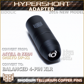 Norne Hyper-Short Adapter - (Astell & Kern Balanced 2.5mm - to - Eidolic 4-pin XLR male)