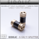 *NEW*  Eidolic - E-SX2 - Cable Splitter - Beadblast Aluminum Gold with Carbon Fiber - diy for ciem and fullsize cables