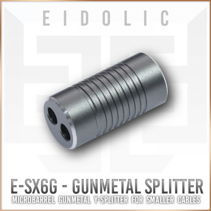 Eidolic E-SX6 gunmetal ultra compact micro barrel Y-splitter for diy cables