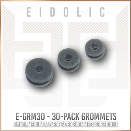 * Eidolic - E-GRM30 - 30-pack -grommet / strain relief (dark grey) - DIY part - 3 sizes