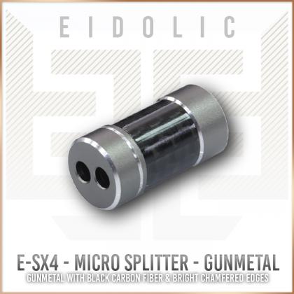 Eidolic E-SX4 Guinmetal wiith black carbon fiber micro Y-splitter for ciem & iem portable cables - diy
