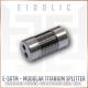 (NEW) - Eidolic Premium Pure Titanium Modular Y-Splitter - Model E-SXTM - selectable ring choices - diy