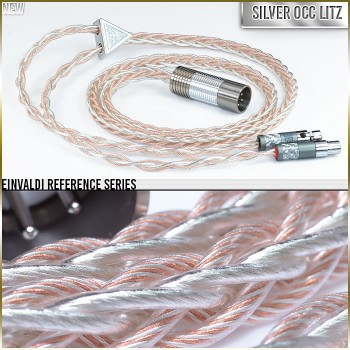 (NEW) - Einvaldi Reference Headphone Cable - 8-wire - 19awg (with 20awg of the highest purity Silver occ litz per polarity) + Cu - TPU - Multi-core - cotton core - infused center core (New Release for Black Friday 2018)