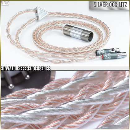 Einvaldi Reference Headphone Cable - 8-wire - 19awg (with 20awg of the highest purity Silver occ litz per polarity) + Cu - TPU - Multi-core - cotton core - infused center core