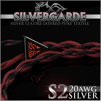Silvergarde S2 - 20awg - Pure silver occ litz - cotton multicore 12-core - carbon infused center core - multi-layer (cotton + teflon) - pure textile - ultimate sound and comfort