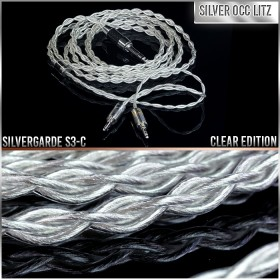 (NEW) - Silvergarde S3-C - Clear Edition - 4-wire (4 x 21awg) - Pure silver occ litz headphone cable (New Release on Black Friday 2018)