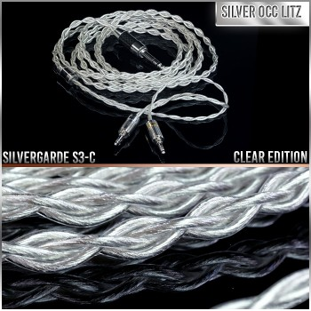 - Silvergarde S3-C - Clear Edition - 4-wire (4 x 21awg) - Pure silver occ litz headphone cable