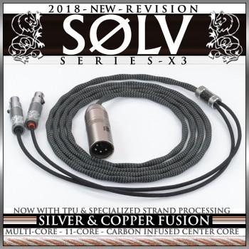 Solv X3 Series - TPU - silver occ litz & copper occ litz - fusion - 11-core - multi-core - enhanced processing - headphone cable