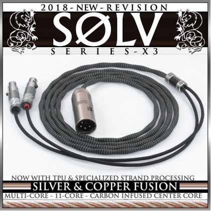 Solv X3 Series - TPU - silver occ litz & copper occ litz - fusion - 11-core - multi-core - enhanced processing - headphone cable