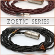 Zoetic Series - Occ litz cu - 21awg per channel - multiple carbon-polymer core / textile core - pure textile dielectric