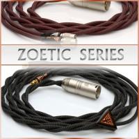 Zoetic Series - Occ litz cu - 21awg per channel - multiple carbon-polymer core / textile core - pure textile dielectric