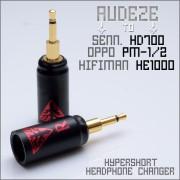 Norne Hyper-Short Adapter - Headphone Changer - Convert Audeze headphone cable to Hifiman HE1000 / Oppo pm-1 & pm-2 / Sennheiser HD700 -