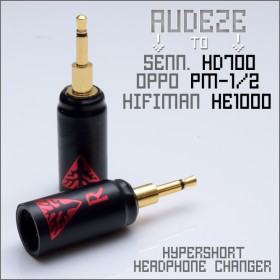 Norne Hyper-Short Adapter - Headphone Changer - Convert Audeze headphone cable to Hifiman HE1000 / Oppo pm-1 & pm-2 / Sennheiser HD700 -