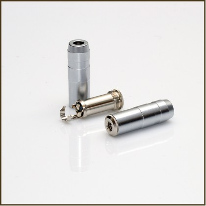 """Oyaide J-3.5mm SR 1/8"""" mini female connector (rhodium)"""