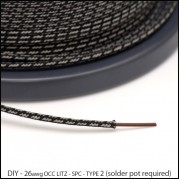 (DIY) 26awg Type 2 OCC Litz Highest Purity Ag coated Cu Ultra Fine Stranded Wire