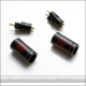 *NEW* Reference (Tellurium Copper pins) Eidolic 2-pin (.78mm) IEM / CIEM connectors (E2-78CU, larger barrel, sold per pair)