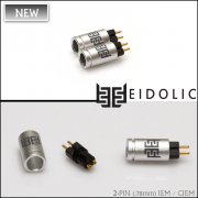 *Eidolic 2-pin (.78mm) IEM / CIEM connectors (E2-78, larger barrel, sold per pair)