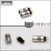 *NEW*  Eidolic 2-pin (.78mm) IEM / CIEM connectors (E2-78, larger barrel, sold per pair)
