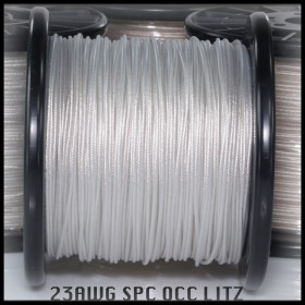 *NEW* (DIY)  - 23awg - Highest Purity - OCC SPC Litz (Silver plated Copper) - with 100% pure cotton center cores