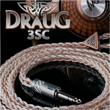 (new) - Draug 3SC - Silver occ litz + Copper occ litz Fusion - 20awg per polarity - Tri-multiconductor - 24-wire - cotton core - TPU - headphone cable