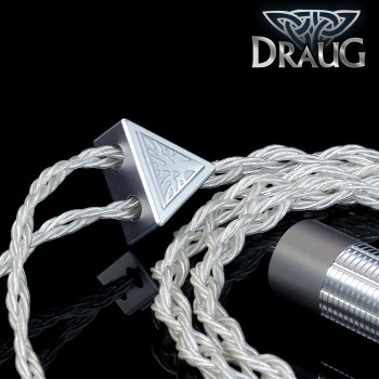 Draugur Silver - 12-wire - 23awg x 4 - Highest pureity Silver occ litz - Tri-conductor geometry - TPU - cotton core