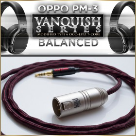 Vanquish Oppo PM-3 headphone cable - 4x24awg (multicore, 7-core) - Balanced
