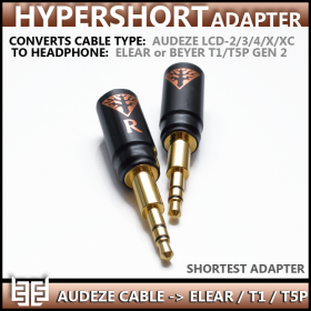 **new** - Norne Hypershort Adapter - Convert Audeze Headphone Cable - To - Focal Elear & Beyerdynamic T1/T5P Gen 2