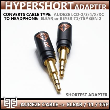 **new** - Norne Hypershort Adapter - Convert Audeze Headphone Cable - To - Focal Elear & Beyerdynamic T1/T5P Gen 2