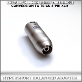 Norne Hyper-Short Adapter (LH-LABS / HIFIMAN 3.5mm TRRS 4-pole balanced conversion to 4-pin XLR TeCu Eidolic Male)
