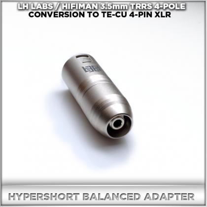 Norne Hyper-Short Adapter (LH-LABS / HIFIMAN 3.5mm TRRS 4-pole balanced conversion to 4-pin XLR TeCu Eidolic Male)