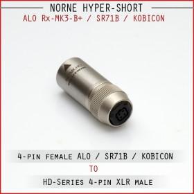 Norne Hyper-Short - ALO Rx Mk3-B+ / SR71B / 4-pin Balanced female to 4-pin XLR male
