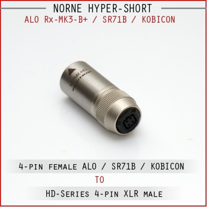 Norne Hyper-Short - ALO Rx Mk3-B+ / SR71B / 4-pin Balanced female to 4-pin XLR male