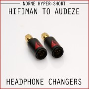 Norne Hyper-Short Adapter - Hifiman to Audeze - Headphone Changers