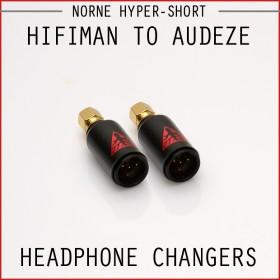 Norne Hyper-Short Adapter - Hifiman to Audeze - Headphone Changers
