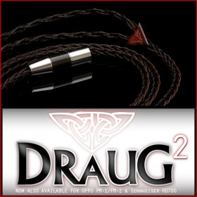 Draug v2 - 8x24awg (24-wire / multi-core, equiv. 4x21awg)  Litz OCC Cu Tri Multi-Conductor headphone cable