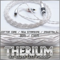 *Therium Series Pure Silver OCC Litz  (cotton core, industry first stranding, 4 / 8-wire)  reference CIEM / IEM replacement cable