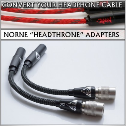 """Norne """"Headthrone"""" Adapters - One Cable to Rule them all - Headphone Cable conversion"""