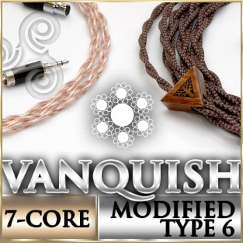Vanquish Series Headphone Cable - OCC Litz, cu and spc, 7 textile cores per conductor (first ever multi-core produced in industry)